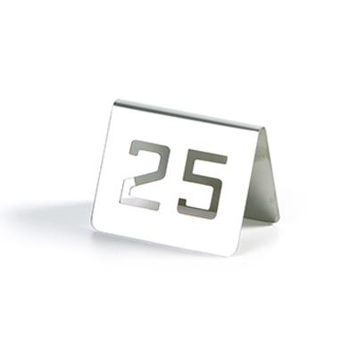 número de mesa perforado