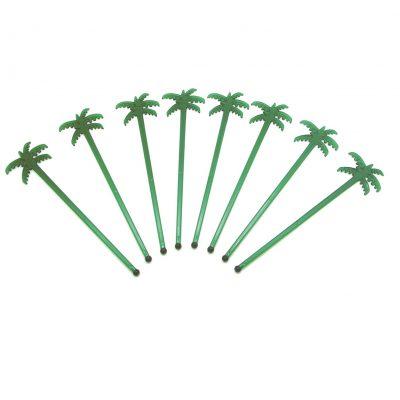 agitador coctel con forma de palmera