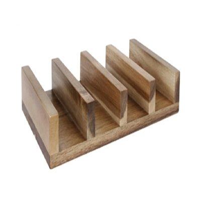soporte tacos madera