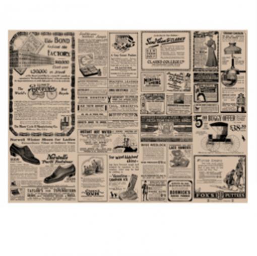 mantelín de periódico