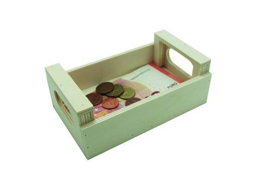 caja de madera para cambio