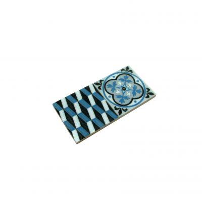 mini baldosa hidráulica azul