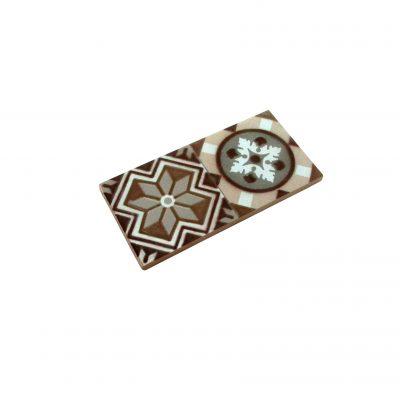 mini baldosa hidráulica marrón