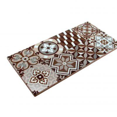 baldosa hidráulica marrón