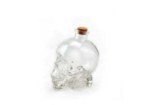 botella cráneo calavera cristal