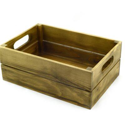 caja de madera natural envejecida