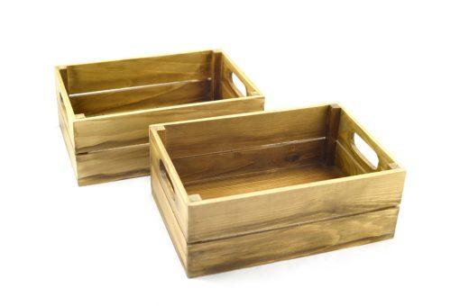 caja madera natural envejecida