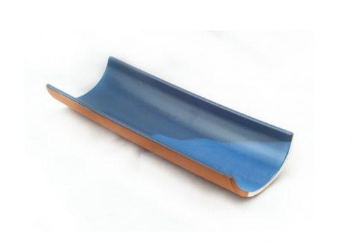 juego 4 tejas teja azul